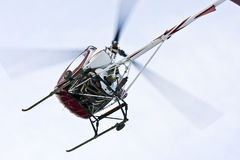 Helicopter landing close up Stock Images