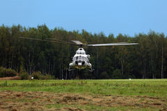 The helicopter stock photography