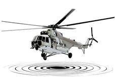 Helicopter landing illustration Royalty Free Stock Image