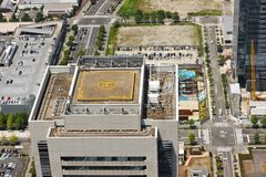 Helicopter landing pad Royalty Free Stock Image
