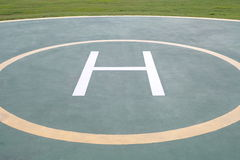 Helicopter landing pad Royalty Free Stock Photography