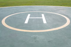 Helicopter landing pad Royalty Free Stock Photos