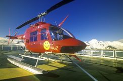 Helicopter on landing pad of cruise ship Marco Polo, Antarctica Stock Images