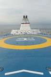 Helicopter landing pad on Ferry Royalty Free Stock Images