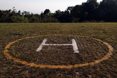 helicopter landing pad Stock Photo