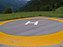 Helicopter landing pad helipad Stock Photos