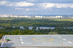 Helicopter landing pad under construction Royalty Free Stock Image