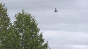 Helicopter lands. Aviation disaster medicine.  stock footage