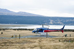 The Helicopter Line Company, Mount Cook, New Zealand offers breathtaking scenic helicopter flights with snow landings in and aroun Stock Photography