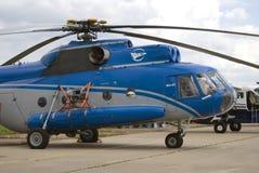 Helicopter at MAKS International Aerospace Salon MAKS-2017 Stock Image