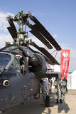 Helicopter at MAKS International Aerospace Salon Stock Image