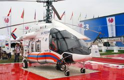 Helicopter at MAKS-2013. Helicopter of the Ministry of Emergency Situations at International Aerospace Salon MAKS-2013. Taken on August 30, 2013 in Zhukovsky Royalty Free Stock Photography
