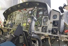 Helicopter mands or controls Royalty Free Stock Photography