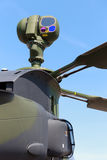 Helicopter Mast-mounted sight. Mast-mounted sight with infrared and CCD TV cameras on an attack helicopter Royalty Free Stock Photo