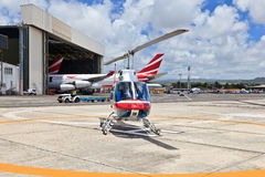 Helicopter in Mauritius Royalty Free Stock Image