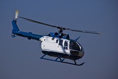 Helicopter - MBB BO-105CBS-4. The MBB Bo 105 is a light, twin-engine, multi-purpose utility helicopter developed by Bölkow of Stuttgart, Germany. Production royalty free stock image
