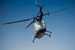 Helicopter - MBB BO-105CBS-4. The MBB Bo 105 is a light, twin-engine, multi-purpose utility helicopter developed by Bölkow of Stuttgart, Germany. Production royalty free stock photos