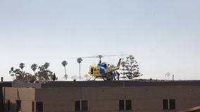 Helicopter Medical Transport at Hospital Stock Image