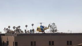 Helicopter Medical Transport at Hospital Stock Images