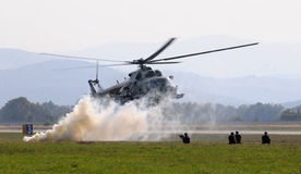 Helicopter -Mi-17 - combat action Stock Photos