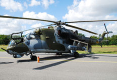 Helicopter Mi-35 Mi-24 stock photos