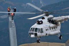 Helicopter Mi 8 MTV 1 in Transylvania Royalty Free Stock Photos