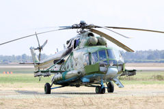 Helicopter Mi-8 at airshow Stock Image