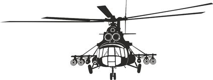 Helicopter Mi-8. The Mi-8 helicopter for cutting plotter (vector Stock Photography