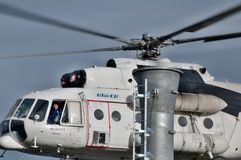 Helicopter Mi 8 MTV 1 in Transylvania Stock Photography