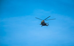 Helicopter Mi-8 in the sky Stock Photography
