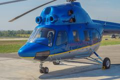 The helicopter Mi2 Stock Image