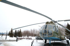 Helicopter Mi-8, Victory Park, Kazan, Russia Royalty Free Stock Photos
