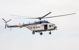 Helicopter Mil Mi-17 at airshow stock photography