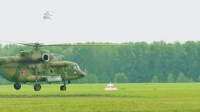 Helicopter Mil-171 take-off stock video footage