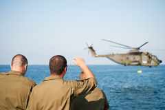 Helicopter and military Stock Images