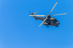 Helicopter Military Ocean Flying Stock Photography