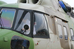 Helicopter. Military transport helicopter for hot spots Stock Photo