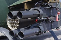 Helicopter missile launcher Royalty Free Stock Images