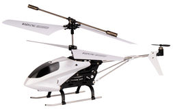 Helicopter model isolated Stock Images