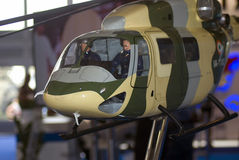 Helicopter model. MAKS International Aerospace Salon Stock Photo