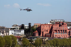 Helicopter on naples Royalty Free Stock Images