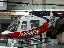 Helicopter at the News Museum. Helicopter used by the news gathering services on display at the Newseum (News museum) recently opened in Washington DC. Photo Royalty Free Stock Images