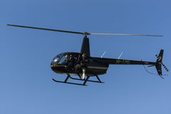 Helicopter news team Royalty Free Stock Photos