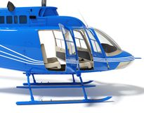 Helicopter with open doors. On a white background high resolution 3d rendered image Stock Image