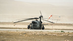 Helicopter operations in Afghanistan Royalty Free Stock Images