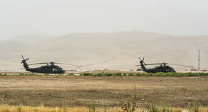 Helicopter operations in Afghanistan. Military and UN helicopter operations in Afghanistan Royalty Free Stock Photography