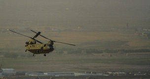 Helicopter operations in Afghanistan in 2017 Stock Photography