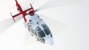 Helicopter. Over blue sky background, front view Royalty Free Stock Photos