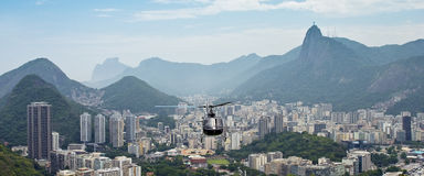 Helicopter Over Rio de Janeiro Royalty Free Stock Images