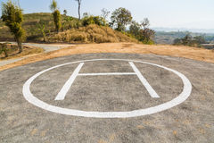 Helicopter pad Royalty Free Stock Photo